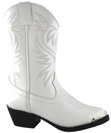 Smoky Mountain Kids Mesquite White Boots 6.5Y -