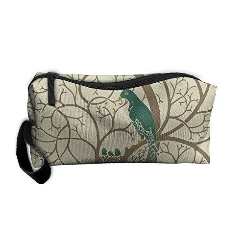 Jessent Coin Pouch Dove Rabbit Pen Holder Clutch Wristlet Wallets Purse Portable Storage Case Cosmetic Bags Zipper ()