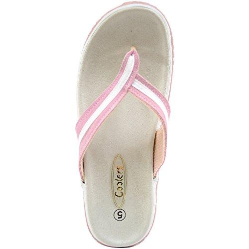 734834eeb4bf29 chaussures Cuir tong plage D'été Femme Sandales En Mesdames Rose pour  Véritable vacances Daim qPR4IwO