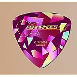 FERNANDES[フェルナンデス] 三角ピック DIAMOND&PEARL P-100 ピンク・ブルー・グリーン 0.75mm (ピンク)