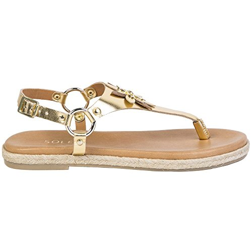 Gold Sandales Sybil Femme Sole tan Gold qZ8H7wn4
