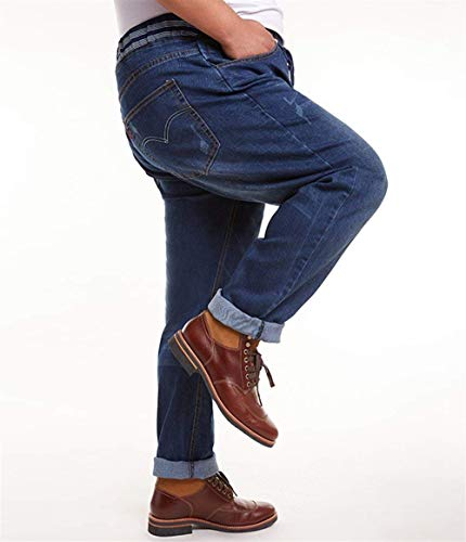 Da Moda Dunkelblau Stretch Eleganti Dritti Sottili Vintage T Pantaloni Uomo Jeans E Di Abbigliamento 6CwqFWgx