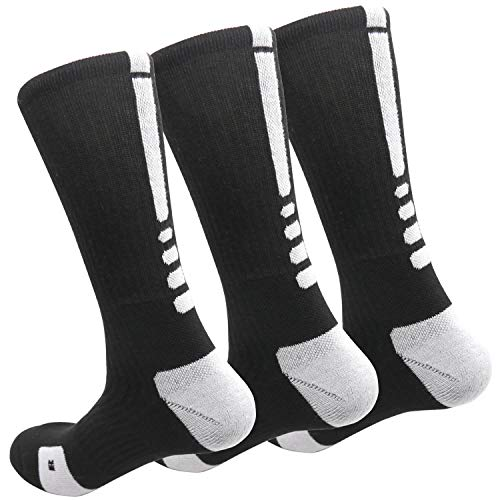 MUMUBREAL Men's Cushioned Compression Sport Socks