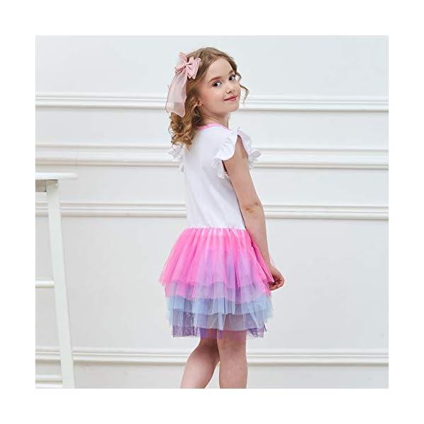 VIKITA Vestito Cotone Stampa Principessa Tulle Tutu Festa di Compleanno Abito Bambina 6