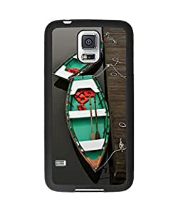 Colorful Boat Samsung Galaxy S5 Plastic and TPU Durable Phone Case Cover(Laser Technology)