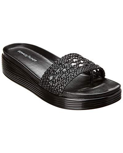 Donald Pliner Fiji Leather Sandal, 7.5 (Donald J Pliner Black Sandals)