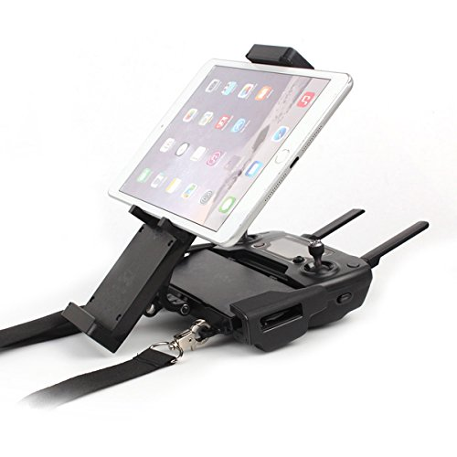 JIEXING DJI Mavic Air Mavic Pro Platinum Spark Accessories Tablet Holder Phone Mount with Neck Lanyard Strap,Free Disassembly,360 Degree Rotation for Remote Controller by Jiexing