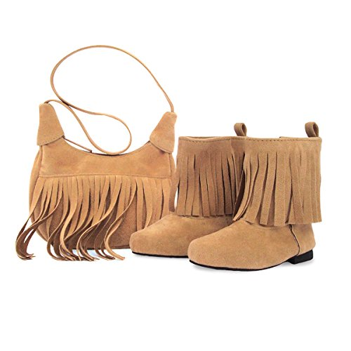 on Fringe Western-Style Boots and Purse for 18 Inch Dolls ()