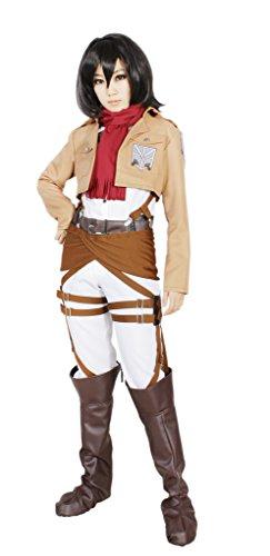 MILICA BOOKS Attack on Titan Training Corps Mikasa Ackerman Cosplay Costume-Size (Mikasa Ackerman Costume)