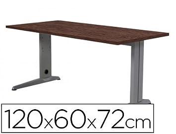 Mesa 120x60 estructura aluminio tablero wengué: Amazon.es: Electrónica