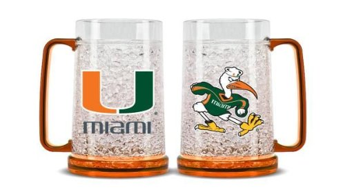 NCAA Miami Hurricanes 16oz Crystal Freezer Mug ()