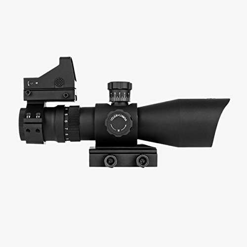 Trinity Force 3-9x42 REDCON V2 (Tactical Reticle) Rifle Scope + Compact Backup Aiming Red Dot Sight and Integral Mount Fits Ruger SR556 S&W M&P 15-22 Mossberg MMR 715t Springfield Armory Saint