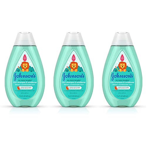 Johnson's Baby Tear Free Detangling 2-in-1 Toddler & Kids Shampoo & Conditioner, 13.6 Fluid Ounce (Pack of 3)