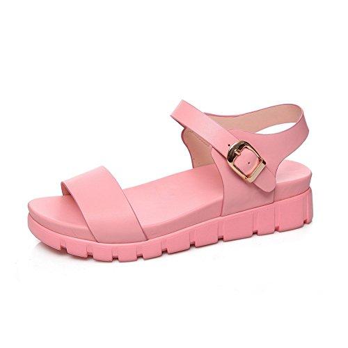 Adee Ladies ankle-cuff hebilla de poliuretano Sandalias Rosa - rosa