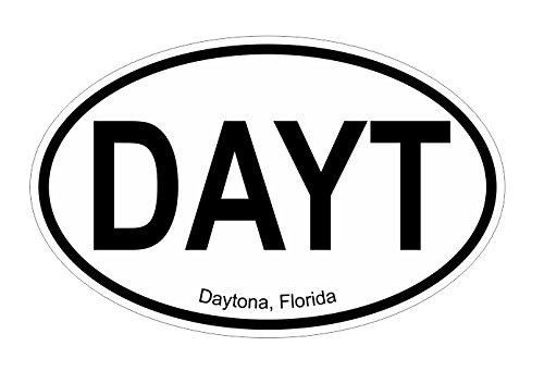 Daytona FL oval Vinyl Decal Sticker