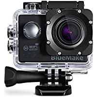 Sports Action Camera Sj7000 WIFI Waterproof Extreme Helmet Cam Recorder Marine Diving 1080P 12 Mp 2.0 Ltps LED 170 Degree Wide Lens 10+Mounts Accessories &Two Batteries - Black