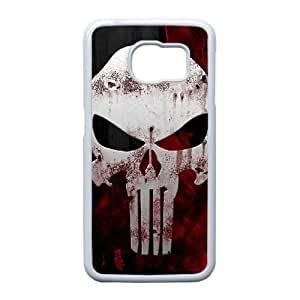 Protection Cover Hwrel Samsung Galaxy S6 Edge Cell Phone Case White The Punisher Personalized Durable Cases