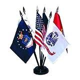 United States U.S. Armed Forces 6-Flag Desk Table Top Set For Sale