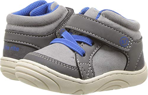Stride Rite Boys' Ethan Sneaker, Grey, 6 M US Toddler by Stride Rite