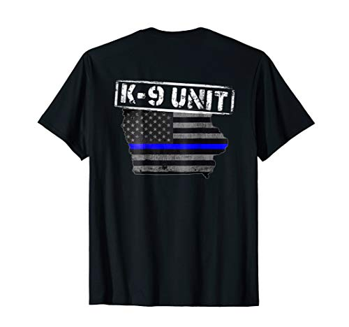 Iowa K-9 Police Officer T-Shirt LEO Law