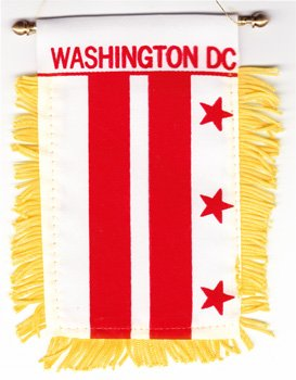 Washington, DC (District of Columbia) - Window Hanging - Dc Washington Shops Gold In