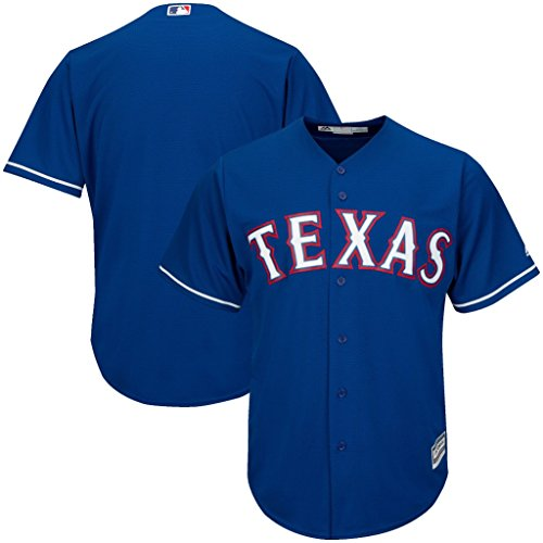 VF Texas Rangers MLB Mens Majestic Cool Base Replica Jersey Royal Blue Big & Tall Sizes (5XT)