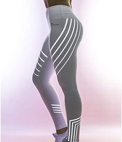 レディースジャージ上下セット 女性のハイウエストタイトフィットスポーツヨガレギンス (色 : ブラック, サイズ : L)