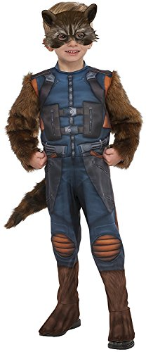 Rubie's Costume Guardians of The Galaxy Vol. 2 Toddler Rocket Raccoon Costume, Multicolor, X-Small