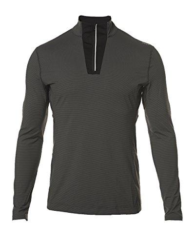 (SODO Men's G6 1/4 Zip Vented Performance Pullover, Graphite/Black, Medium)