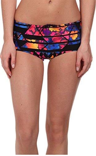 TYR SPORT Santa Rosa Cheeky Shorts, Black Multi 004, Large