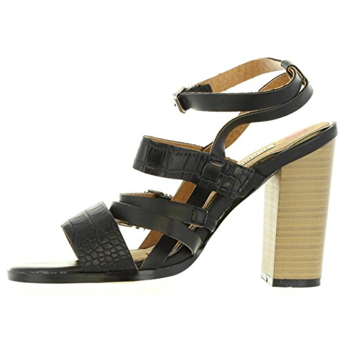 Negro 65731 C17248 Mare pour 38 Maria Taille Femme Sandales IYXwPH