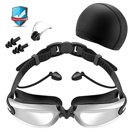 YASEN Professional Swim Goggles for Adults, Uv Protection Swimming Goggles, Anti Fog Swimming Goggles for Men