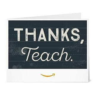 Amazon Gift Card - Print - Thank You Teacher (Chalkboard) (B01MSZLAR8) | Amazon price tracker / tracking, Amazon price history charts, Amazon price watches, Amazon price drop alerts