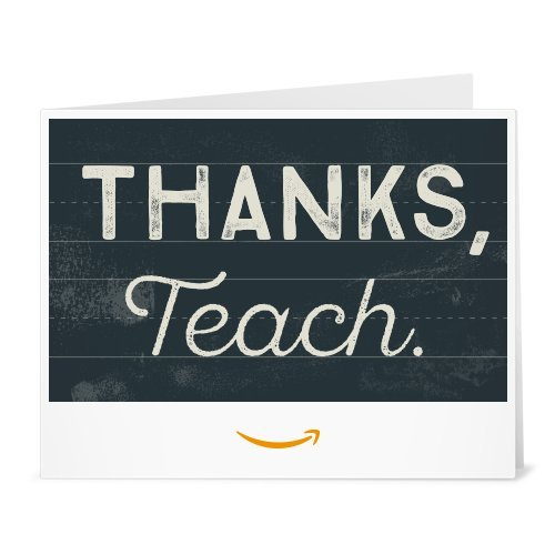 Amazon Gift Card - Print - Thank You Teacher (Chalkboard)
