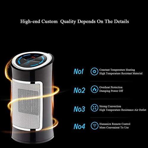 KLSJJ 電気スペースヒーター - 1500W高速暖房ポータブル振動セラミックタワーヒーターオフィス家庭用、リモコン付き、タイマー、オートシャット