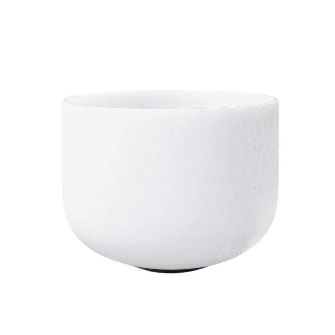 CVNC 14 Inch Sound Healing 432HZ New Frosted G Throat Chakra Frosted Quartz Crystal Singing Bowl Free mallet & O-ring by CVNC