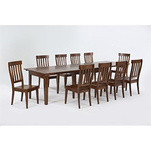A-America Toluca 11 Piece Extendable Dining Set in Rustic Amber