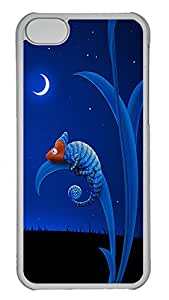 Lovely Moon Little CrocodileCases For iPhone 5c - Unique Cool Hard Transparent Mobile Phone Protecting Shell