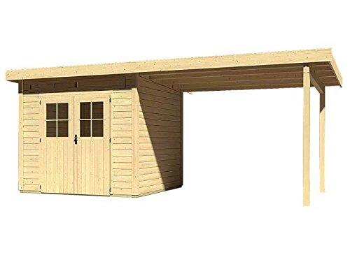 Karibu Woodfeeling Gartenhaus Kulpin 3 mit Anbaudach 3,00 Meter