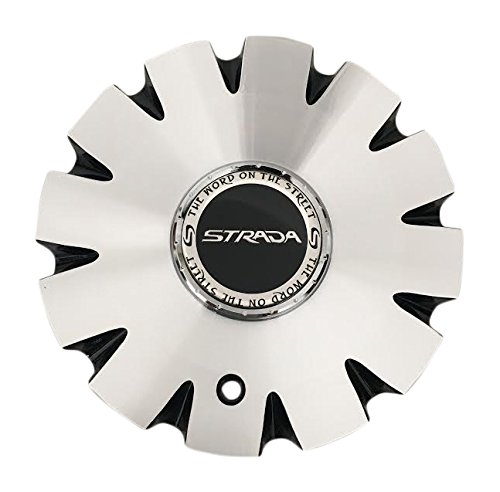(Strada Gabbia Wheels C-1093-3 Black and Machined Wheels)