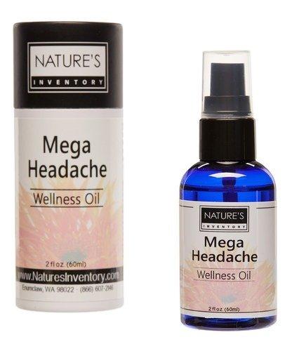 Nature's Inventory - Wellness Oil 100% Organic Mega Headache - 2 oz