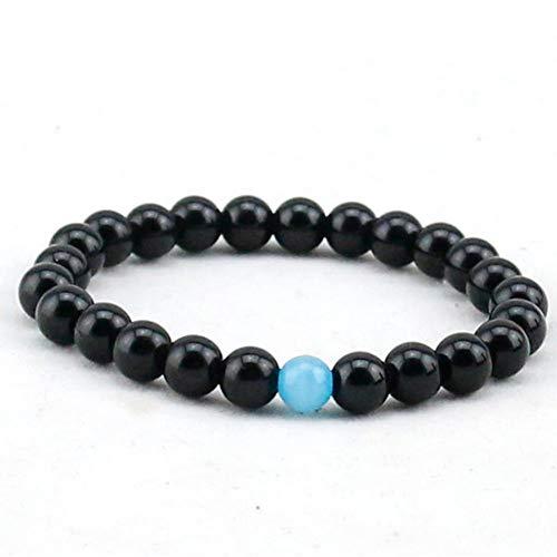 DUSHOULIAN Bracelet,Mens Bracelet Semi-Precious Natural Stones (8Mm) Handmade Onyx Bracelets for Women