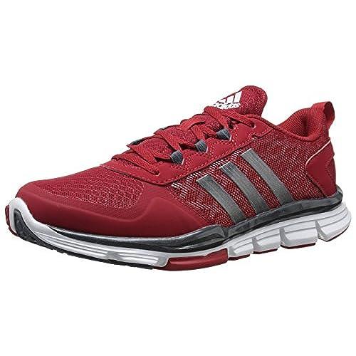 adidas scarpe da uomo rosso e grigio.