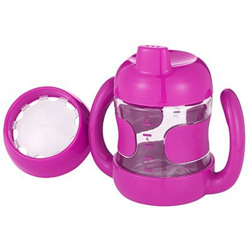 OXO Tot Sippy Cup Set with Bonus Training Lid and Removable Handles (7 oz.) - Pink