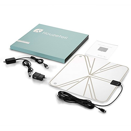 TV Antenna, Houzetek Indoor Amplified HDTV Antenna 50 Mile Range with Detachable Amplifier Signal Booster, USB Power Supply HDTV Antenna and 13.1FT High Performance Coaxial Cable (With UL Certificate) by Houzetek (Image #7)