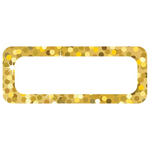 Ashley Productions Gold Sparkle Magnetic Small Nameplates
