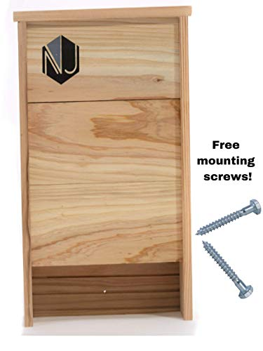 (NoJack Two Chamber Bat Box House Kit for Outside Bat Nesting |Premium Large Hanging Cedar Bat Box for Mosquito Control)