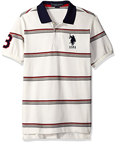 U.S. Polo Assn. Men's Shadow Striped Pique Polo Shirt