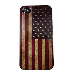 TY- Modelo retro EE.UU. Flag PC de nuevo caso para el iPhone 4/4S