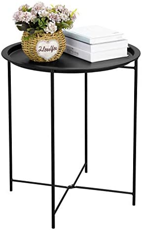 Finnhomy Small Round Side End Table